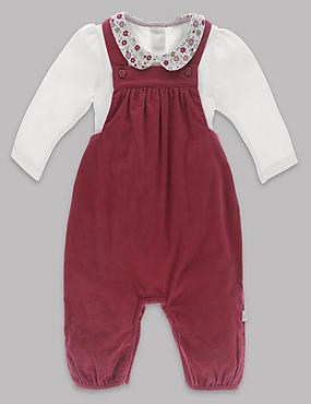 2 Piece Baby Dungarees & Bodysuit Outfit