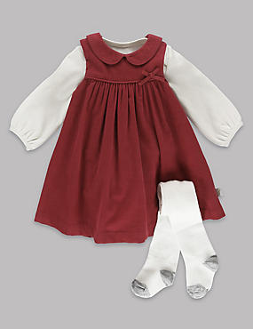 3 Piece Woven Baby Dress Outfit