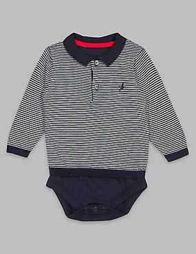 Pure Cotton Striped Baby Bodysuit