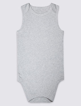 Pure Cotton Sleeveless Bodysuit (3-16 Years)