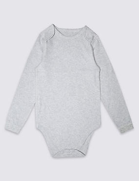 Pure Cotton Long Sleeve Bodysuit (3-16 Years)