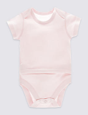 Pure Cotton Short Sleeve Bodysuit (0-3 Years)