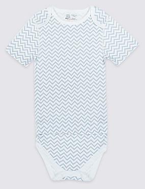 Pure Cotton Bodysuit (0 Month - 16 Years), BLUE MIX, catlanding