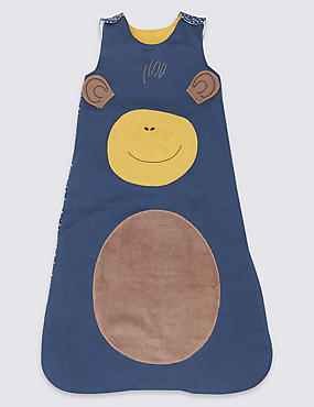 Pure Cotton 2.3 Tog Monkey Sleeping Bag