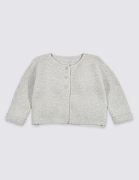 Pure Cotton Lightweight Knitted Cardigan