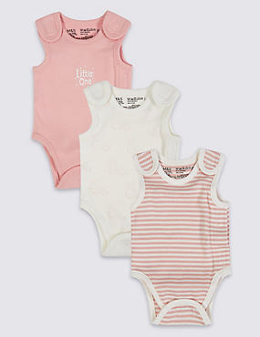 3 Pack Premature Pure Cotton Bodysuits