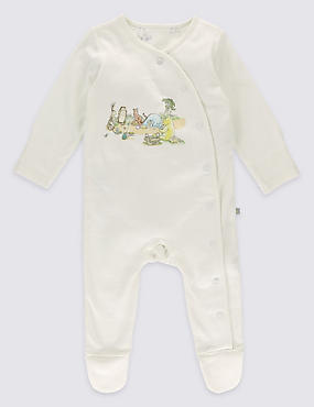 Winnie The Pooh Side Opening Cotton Sleepsuit