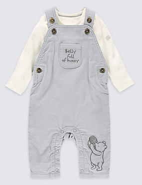Winnie The Pooh 2 Piece Dungarees & Bodysuit Outfit