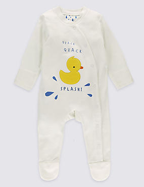 Pure Cotton Duck Applique Sleepsuit