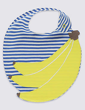 Pure Cotton Banana Applique Bib