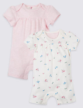 2 Pack Pure Cotton Rompers