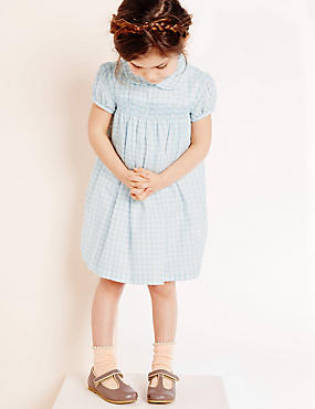 Girls Woven Check Dress (3 Months - 5 Years)