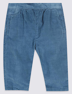 Pure Cotton Cord Trousers