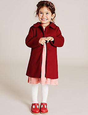 Girls Wool Blend Collared Coat (3 Months - 5 Years)