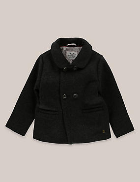 Boys Wool Blend Pea Coat (3 Months - 5 Years)