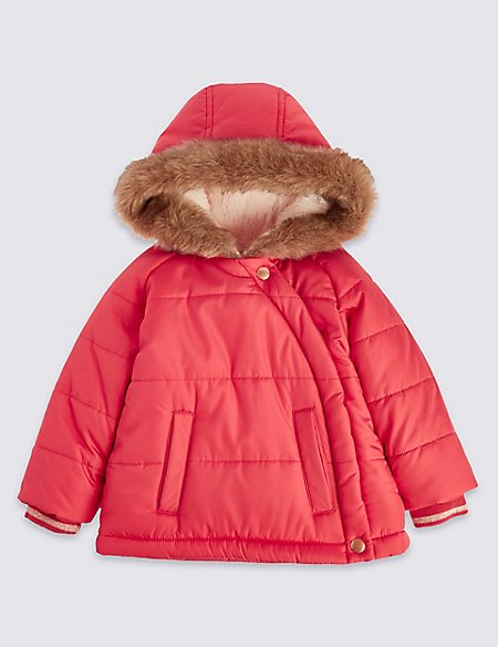 Asymmetric Padded Coat with Stormwear™