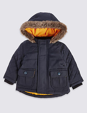 Long Sleeve Navy Parka with Stormwear™