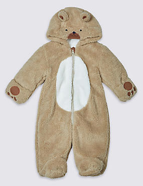 Long Sleeve Teddy Pramsuit