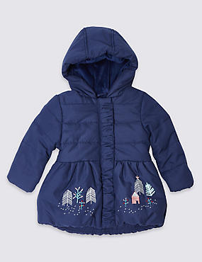 Applique Hooded Coat