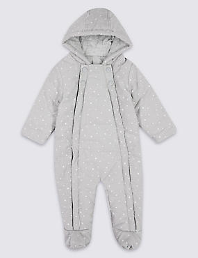 Pure Cotton Printed Cord Pramsuit