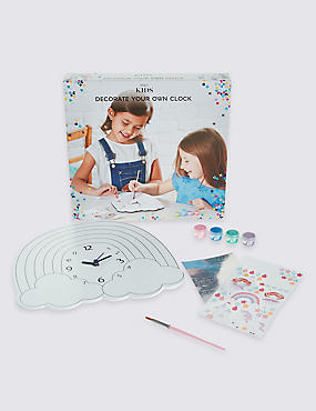 Kids' Decorate Your Own Clock