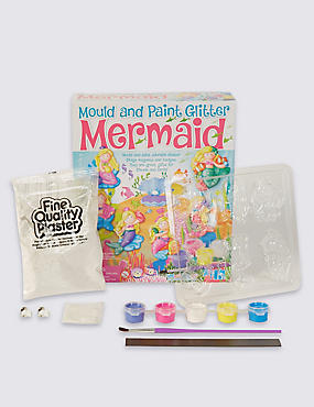 Mould & Paint Glitter Mermaid Craft Kit