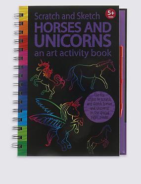 Scratch & Sketch Animals Activity Book, , catlanding