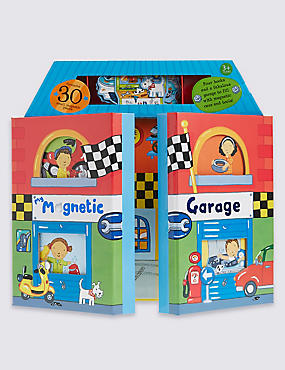 Kids' Magnetic Garage Books
