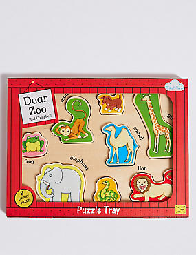 Dear Zoo Wooden Puzzle Blocks, , catlanding