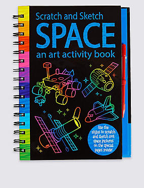 Scratch & Sketch Space Book