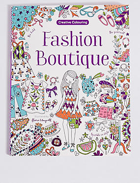 Fashion Boutique Colouring Book