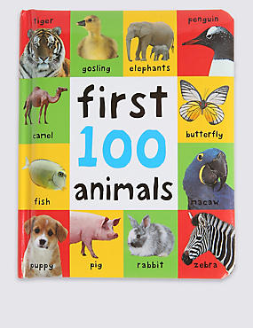 First 100 Animals Book, , catlanding