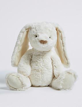 Medium Cream Bunny, , catlanding
