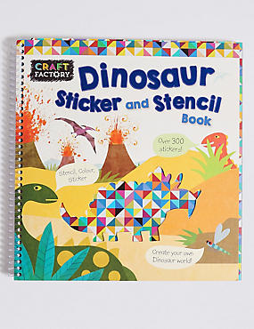 Craft Factory Dinosaur Stencil Book