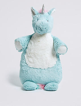 Unicorn Hot Water Bottle, BLUE MIX, catlanding