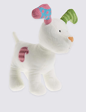 Snow Dog Soft Toy