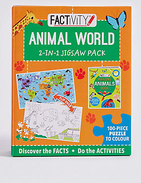 Factivity Animal World Puzzle Game