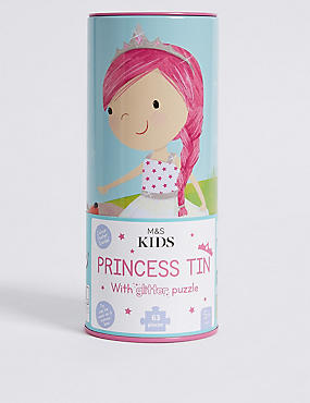 Princess Tin with Glitter Puzzle
