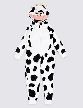 Daisy Cow Onesie (1-16 Years), BLACK, catlanding