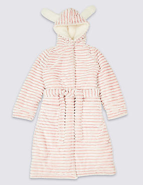 Hooded Bunny Dressing Gown (1-16 Years), LIGHT PINK, catlanding