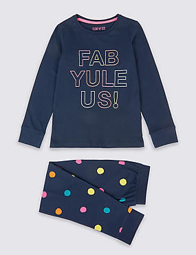 Pure Cotton Pyjamas (3-16 Years), MULTI, catlanding