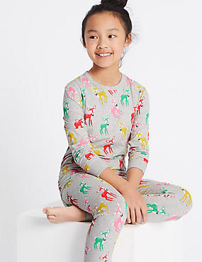 Cotton Rich All Over Print Pyjamas (1-16 Years)