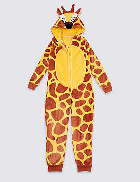 Giraffe Hooded Onesie (1-16 Years), YELLOW MIX, catlanding