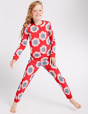 Kids' Skinny Fit Floral Print Pyjamas (1-16 Years)