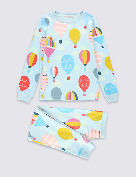 Cotton Rich Hot Air Balloon Pyjamas (1-10 Years)