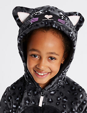 Animal Print Hooded Onesie (1-16 Years)