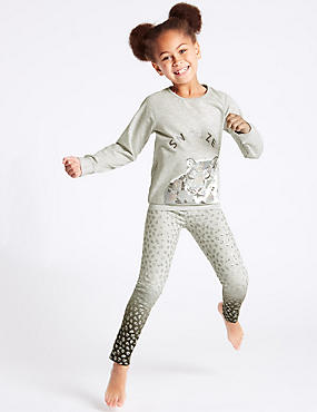 Leopard Print Pyjamas (3-16 Years)