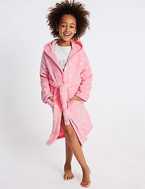 Spot Print Dressing Gown (1-16 Years), PINK MIX, catlanding