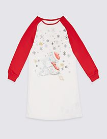 Long Sleeve Printed Nightdress (6-16 Years)