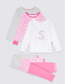 3 Pack Cotton Rich Pyjamas (3-16 Years)